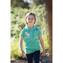 Horseware Kids Pique Polo Top full greewn