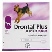 Drontal Plus for Dogs 2 Tablet Pack