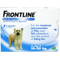 Frontline Spot On Dog 10-20kg  Flea Treatment